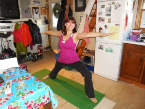 I live and work in this small space. These yoga flows can be done anyplace, anytime.